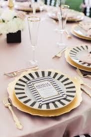 bridal shower plate black white kate spade inspired bridal shower renee designs