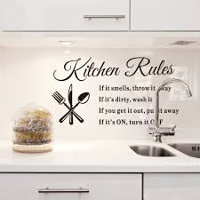 home decor quotes kitchen rules words wall sticker home decor pinterest