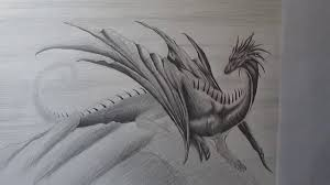 how to draw a realistic dragon with pencil step by step youtube
