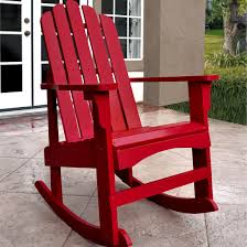 furniture hinkle chair company marina porch rocker chair in red