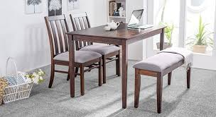4 seater dining table with bench deluca mini 4 seater with bench dining table set stuff to buy