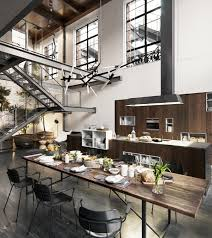 Loft Kitchen Ideas 2 Elegantes Y Acogedores Lofts Cosmopolitas Lofts Cozy And