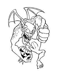 monster halloween pumpkin coloring color luna