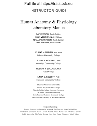 Human Anatomy And Physiology Lab Manual Marieb Solutions Manual Human Anatomyphysiology Lab Manual Fetal Pig