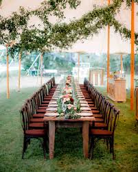 Magic Garden Table And Chairs 42 Stunning Banquet Tables For Your Reception Martha Stewart