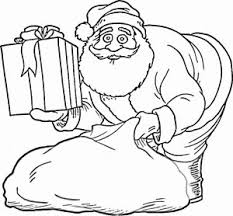 coloring pages santa claus gifts bag 2014 coloring point