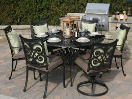 Rosedown  Piece Cast Aluminum Patio Furniture Set Contemporary - 7 piece outdoor dining set with round table