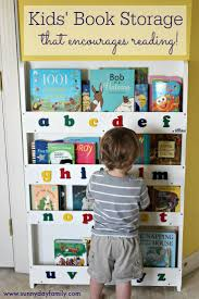 kids book storage that encourages reading sunny day family