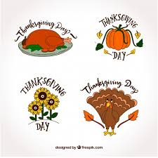 four thanksgiving designs vector free