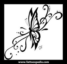 images of tribal butterfly tattoos
