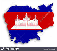 Map Of Cambodia Flags Map Of Cambodia Filled With Flag Stock Image I3607224 At