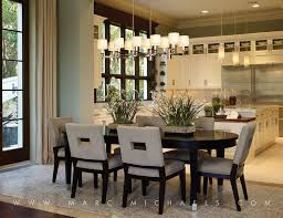 Door Dining Room Table Contemporary Dining Room With Chandelier By Marc Michaels Interior