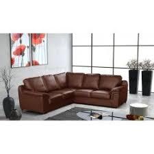 canap d angle en cuir marron canapé d x27 angle panoramique conforama