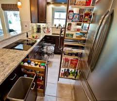 Kitchen Cabinet Accessories by Built In Trash Cans Under Sink Trash Can Kitchen Cabinet Organizers
