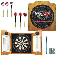 black dart board cabinet trademark corvette c5 wood finish dart cabinet set gm7000 c5 cor
