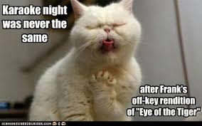 Eye Of The Tiger Meme - karaoke night was never the same i can has cheezburger