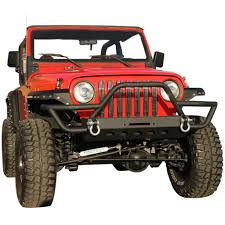 jeep bumpers amazon com e autogrilles 87 06 jeep wrangler tj yj black textured