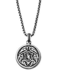 black sapphire necklace images Lyst scott kay men 39 s black sapphire medallion pendant necklace jpeg
