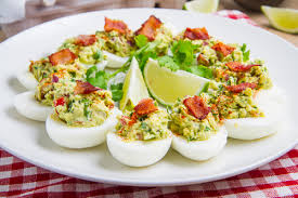deviled egg dishes bacon guacamole deviled eggs on closet cooking