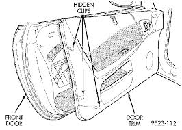 how do you remove the front door panels on a 1996 dodge neon is