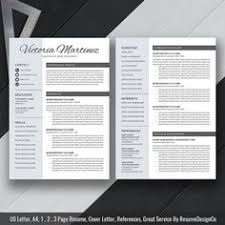 Example Cover Letter Resume by Creative Resume Template Cover Letter 1 2 3 Page Cv Template