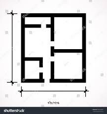floor plan vector icon isolated on stock vector 586203989