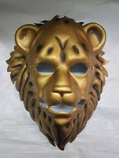 lion mask gold lion half mask pvc plastic costume accessory
