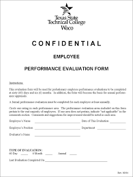 employee performance evaluation template free template download