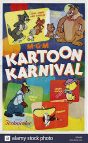 kartoon karnival poster tom jerry nibbles mouse
