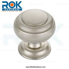 classic round ring brushed satin nickel cabinet hardware knob