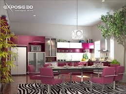 modern pink kitchen colorful kitchen ideas modern dining room colors colorful modern