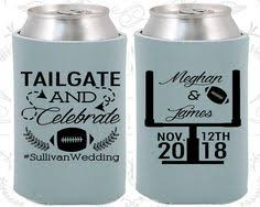 wedding personalized koozies i vow to always you even during football season custom