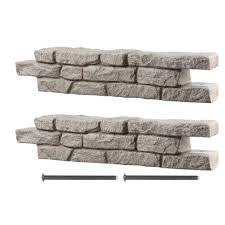 Raised Rock Garden by Rts Home Accents Rock Lock Raised Garden Bed Kit 55060005000081