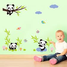 stickers panda chambre bébé acheter lot de stickers mural panda pour chambre bébé enfant
