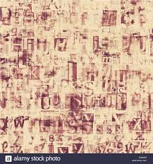 newspaper magazine collage grunge letters background stock photo