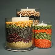cheap and easy thanksgiving centerpieces using beans for the
