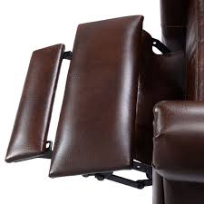 convenience boutique leather recliner accent chair push back