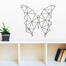 geometric butterfly wall decal red panda wall stickers geometric butterfly wall decal red panda wall stickers