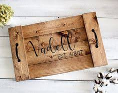 personalized tray personalized serving tray wood serving tray wood serving
