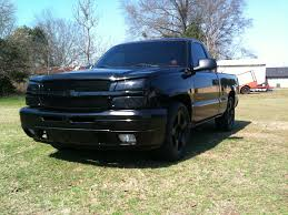 blacked out 2003 chevy silverado on blacked images tractor