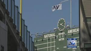 Cubs Flag History Behind The Chicago Cubs U0027w U0027 Flag Abc7chicago Com