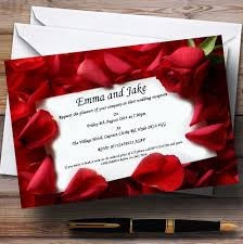 wedding invitations rose red rose love note personalised wedding invitations the card zoo