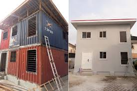 innovative company uses shipping containers to build houses in