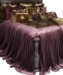 Luxury Bedding Collections Guinevere Luxury Bedding Collection Is Luxurious Eggplant Velvet