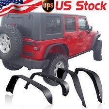 jeep wrangler unlimited flat fenders steel fit 2007 2017 jeep wrangler jk unlimited flat fender