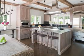 white wash wood kitchen beach style with wood paneling stainless steel