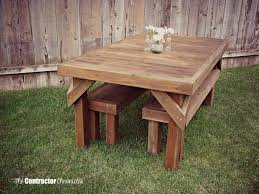 How To Build A Wooden Picnic Table by Build A Cedar Picnic Table The Contractor Chronicles
