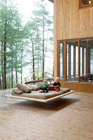 exterior awesome back porch design ideas with floating bed back