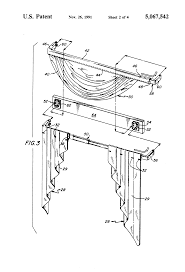 patent us5067542 ready made swag and jabot curtain system