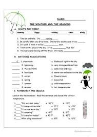 35 free esl weather and seasons worksheets